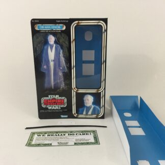 "Custom Vintage Star Wars The Empire Strikes Back 12"" Obi-Wan Kenobi Ghost box and inserts"