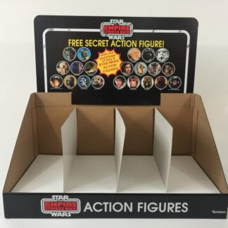 Reproduction Vintage Star Wars The Empire Strikes Back Prototype Free Secret Figure display header and bin