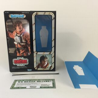 "Custom Vintage Star Wars The Empire Strikes Back 12"" Luke Skywalker X-Wing Pilot box and inserts"