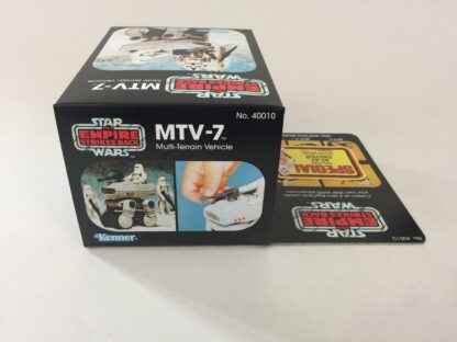 Replacement Vintage Star Wars The Empire Strikes Back MTV-7 mini rig box and inserts 5-back Special Offer sticker type 2
