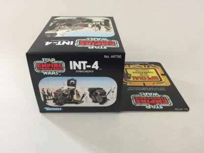 Replacement Vintage Star Wars The Empire Strikes Back INT-4 mini rig box and inserts 5-back Special Offer sticker