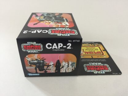 Replacement Vintage Star Wars The Empire Strikes Back CAP-2 mini rig box and inserts 5-back Special Offer sticker