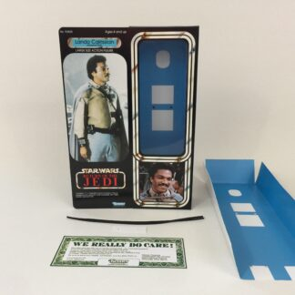 "Custom Vintage Star Wars The Return Of The Jedi 12"" Generl Lando Calrissian box and inserts"