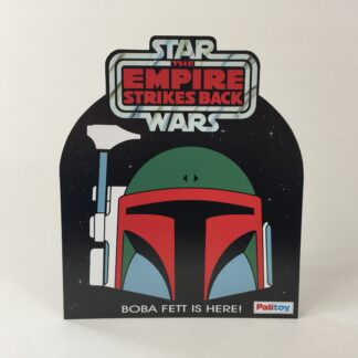 "Custom Vintage Star Wars The Empire Strikes Palitoy Boba Fett bounty Hunter Log shop / store counter display 12"" X 10.25"""