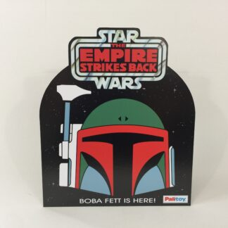 "Custom Vintage Star Wars The Empire Strikes Palitoy Boba Fett bounty Hunter Log double sided shop / store display bell hanger 15.75"" X 18.5"""