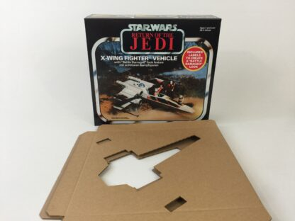 Replacement Vintage Star Wars The Return OF The Jedi Bi-Logo Battle Damaged X-Wing box and inserts