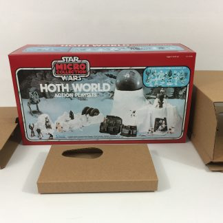 Replacement Vintage Star Wars Micro Collection Hoth World box and inserts
