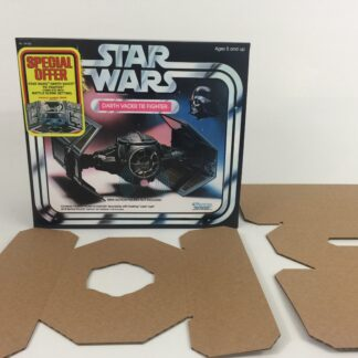 Replacement Vintage Star Wars Kenner Darth Vader Tie Fighter Special Offer box and inserts
