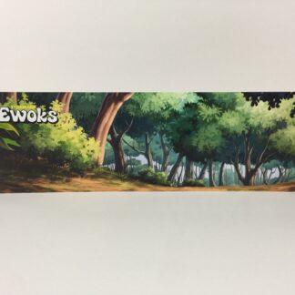 Vintage Star Wars Ewoks Animated Cartoon Series custom display backdrop to fit original grey mail away base or stand alone
