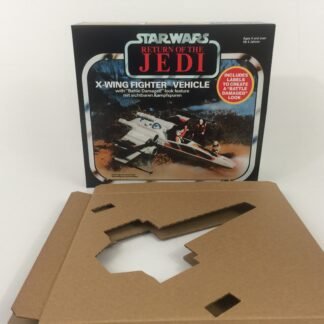 Replacement Vintage Star Wars The Return OF The Jedi Palitoy Battle Damaged X-Wing box and inserts