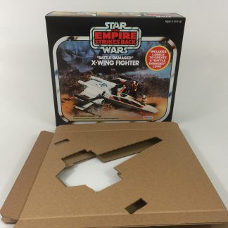 Replacement Vintage Star Wars the Empire Strikes Back Palitoy Battle Damaged X-Wing box and inserts
