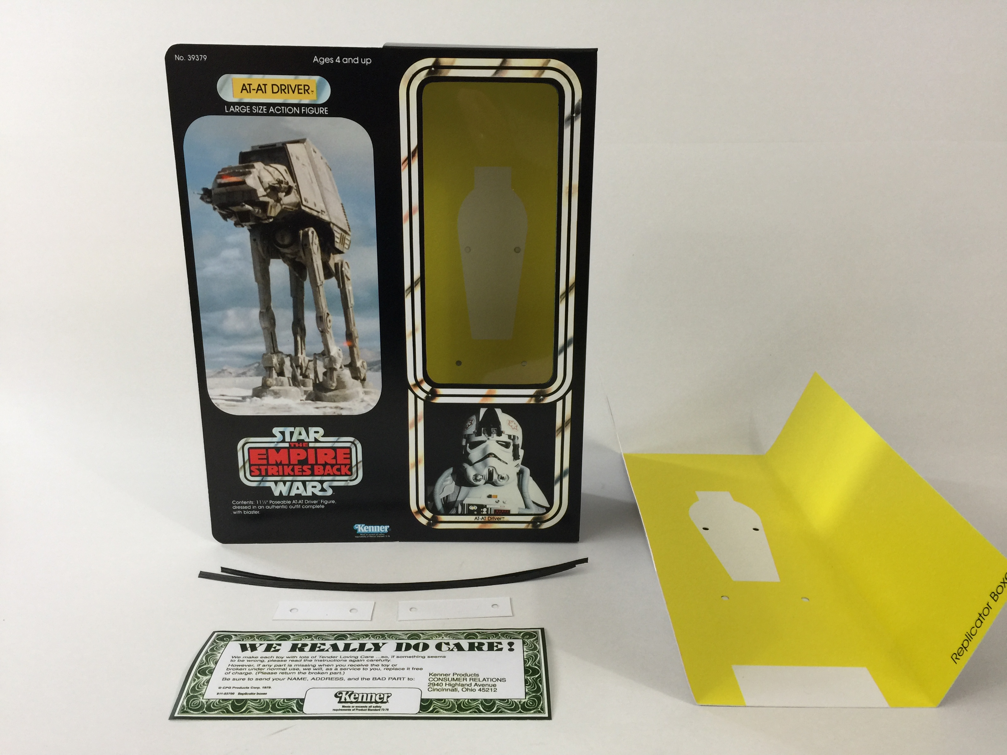 inserts Action- & Spielfiguren custom vintage Star wars esb 12 at-at driver box