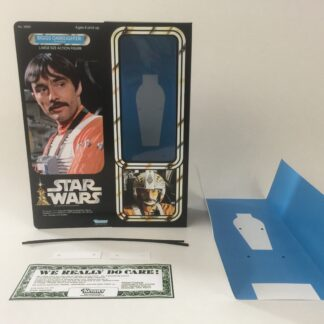 "Custom Vintage Star Wars 12"" Biggs Darklighter X-Wing Pilot box and inserts"