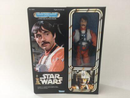 "Custom Vintage Star Wars 12"" Biggs Darklighter X-Wing Pilot box and inserts"