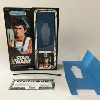 "Custom Vintage Star Wars 12"" Wedge Antilles X-Wing Pilot box and inserts"