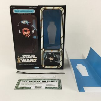 "Custom Vintage Star Wars 12"" Death Squad Commander box and inserts"