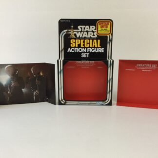 Replacement Vintage Star Wars 3-Pack Series 2 Creature Set box , inserts and backdrop