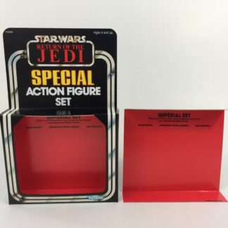 Reproduction Vintage Star Wars The Return Of The Jedi Prototype 3-Pack Imperial Set box and inserts