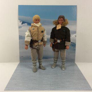 Vintage Star Wars The Empire Strikes Back Hoth Scene custom backdrop display diorama for ikea detolf display cabinet