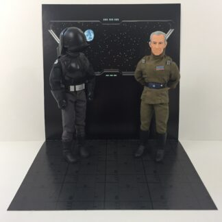 Vintage Star Wars Death Star Window custom backdrop display diorama for ikea detolf display cabinet
