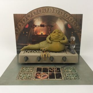 "Vintage Star Wars Jabba The Hutt custom backdrop display diorama for ikea detolf display cabinet for 3 3/4"" figures"