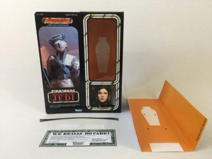 "Custom Vintage Star Wars The Return Of The Jedi 12"" Princess Leia Boushh box and inserts"