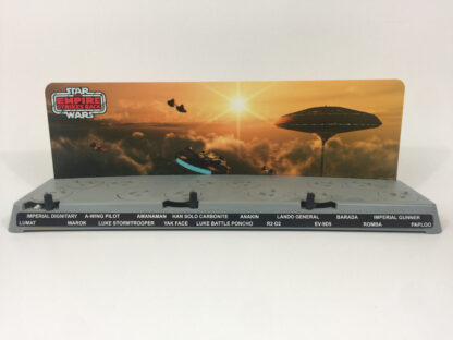 Custom Vintage Star Wars The Empire Strikes Back Cloud City display backdrop diorama scene for use with grey or stand alone