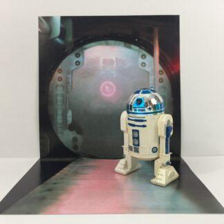 Vintage Star Wars Tantive IV Corridor custom backdrop display diorama for ikea detolf display cabinet