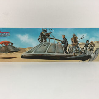 Custom Vintage Star Wars Power Of The Force display backdrop diorama scene for use with grey or stand alone